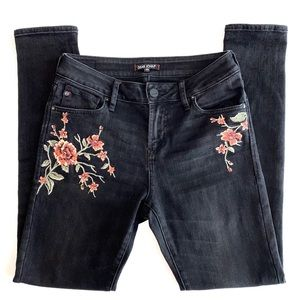 Dear John Gisele Highrise Skinny in Noir Bloom
